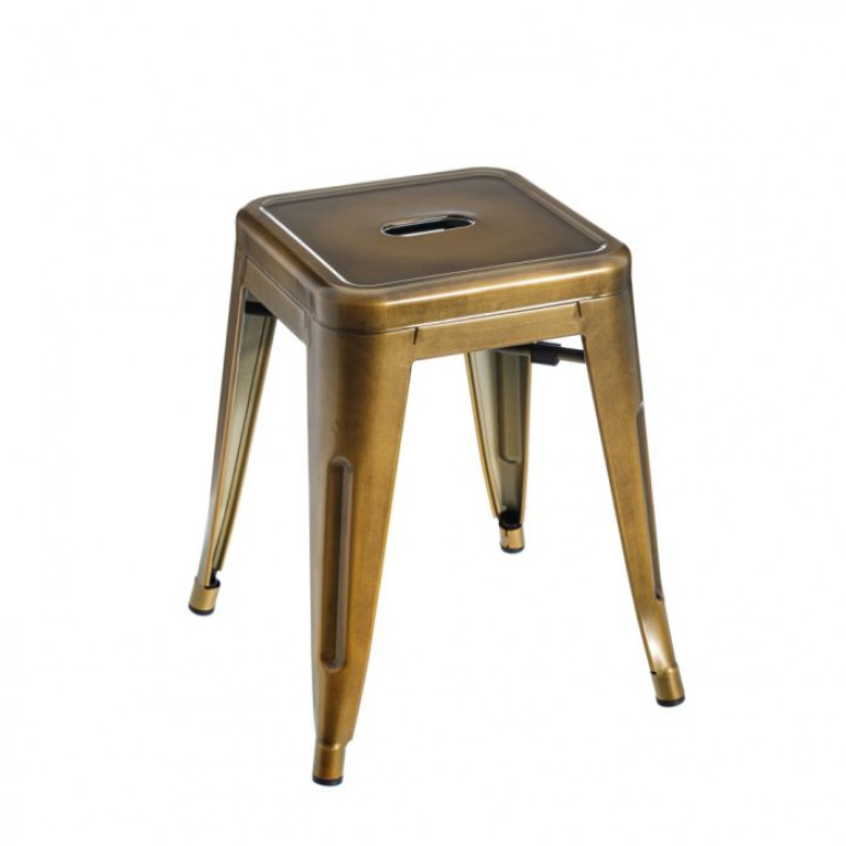 Taburete oro metal dallas industrial 38X38X45cm 600132