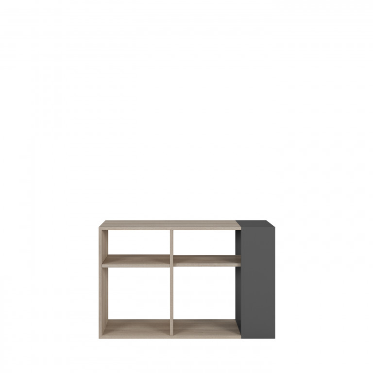 Mueble librero 104x66 color roble aurora con antracita HI-5211