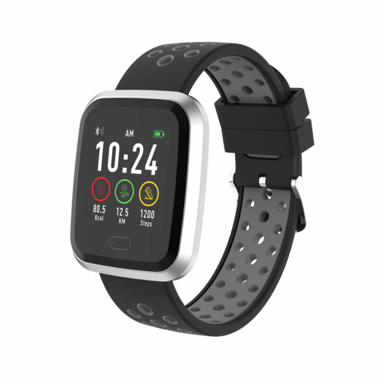 Smartwatch deportivo bluetooth INFINITON NWATC en color negro gris