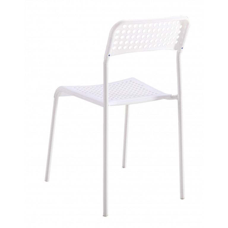 Silla apilable Modelo TOP en color blanco